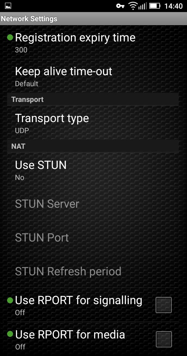 Account-Network Settings